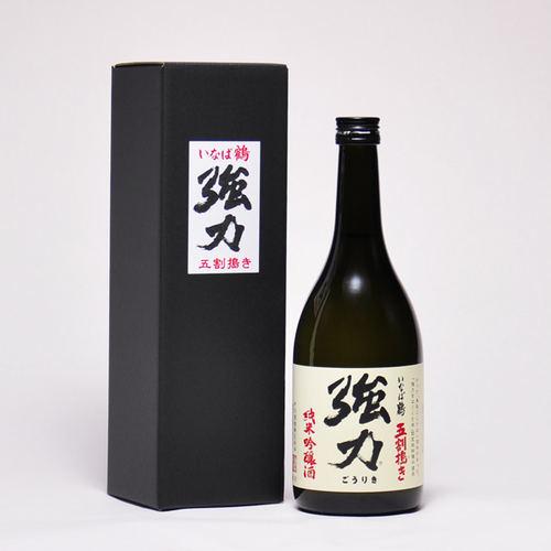 いなば鶴 純米吟醸 五割搗き強力(ごうりき) 720ml(箱付き)